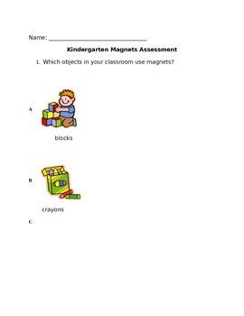 Kindergarten Magnet Assessment
