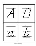 Kindergarten Manuscript Alphabet Flashcards