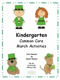 Kindergarten March Activities