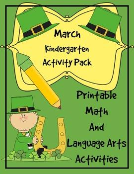 Kindergarten March Activity Pack