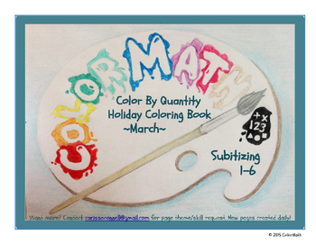 Kindergarten March Holiday Coloring Book By Quantity