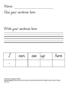 Kindergarten March Homework Week 1