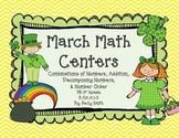 Kindergarten March Math Centers!