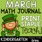 Math Journal March (Kindergarten)