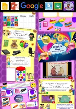 Kindergarten Mass Smart Notebook and Unit of Work Bundle 3