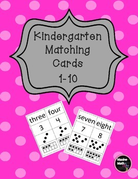 Kindergarten Matching Cards