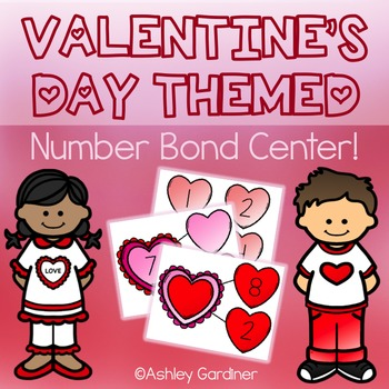 February Math Center for Kindergarten {Spring Math Centers for Kindergarten}