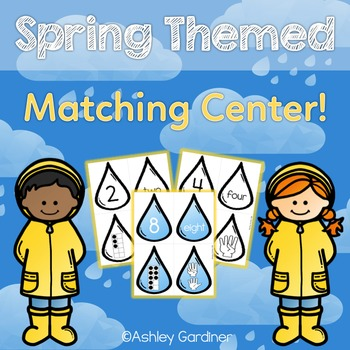 April Math Center for Kindergarten {Spring Math Centers for Kindergarten}
