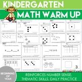 Kindergarten Math Warm Up: (Beginning of the Year)
