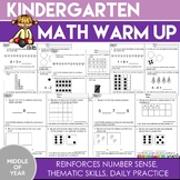 Kindergarten Math Warm Up: (Middle of the Year)
