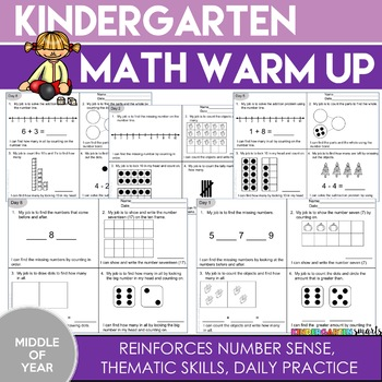 Kindergarten Math Review (Middle of Year)