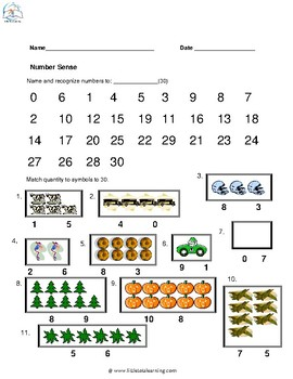 Kindergarten MATH Review - Common Core Aligned