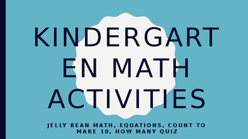 Kindergarten Math Activities