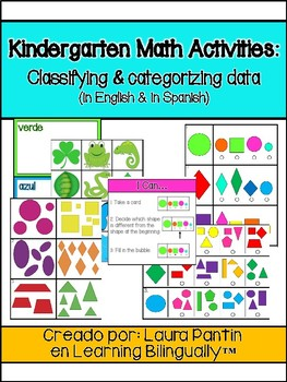 Kindergarten Math Activities: Classifying and Sorting Data