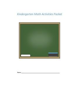 Kindergarten Math Activities Packet