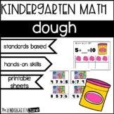 Kindergarten Math Activities and Printable Sheets Dough theme