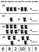 Kindergarten Math Addition Cut and Paste Worksheets