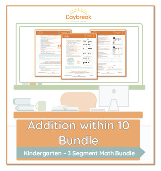 Emergency Sub Plans: Kindergarten: Math: Addition Within 10