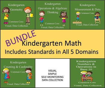 Kindergarten Math--All 5 Domains of Common Core--Visual, Data Collection BUNDLE