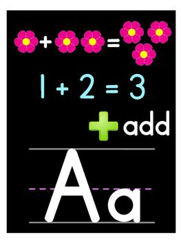 Kindergarten Math Alphabet