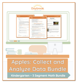 Emergency Sub Plans Kindergarten Math Apples (Collect and Analyze Data)