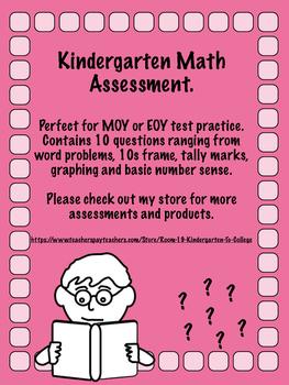 Kindergarten Math Assessent 2