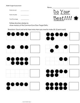 Kindergarten Math Assessment Making Ten