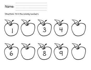Kindergarten Math Assessment - Beginning of the Year