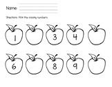 Kindergarten Math Assessment - Beginning of the Year