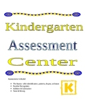 Kindergarten Math Assessment Center