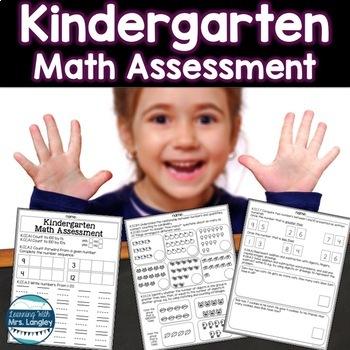 Kindergarten Math Assessment: End of Year