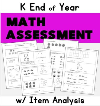 Kindergarten Math Assessment: use with EngageNY: End of K or Beginning First