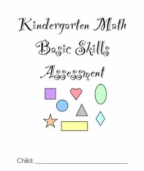 Kindergarten Math Assessment Pack