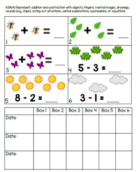 Kindergarten Math Assessment Packet