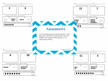 Kindergarten Math Assessments: CC4 Numbers and Quantity