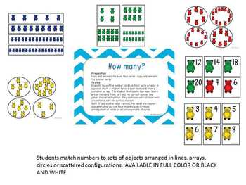 Kindergarten Math Assessments: CC5 How Many?