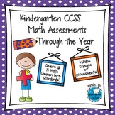 Kindergarten CCSS Math Assessments Through the Year