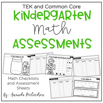 Kindergarten Math Assessments and Checklists