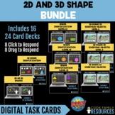 Kindergarten Math BOOM Cards™ - 2D / 3D Shape BUNDLE