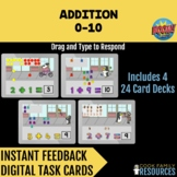 Kindergarten Math BOOM Cards™ - Addition 0-10 | Drag and T