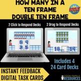 Kindergarten Math BOOM Cards™ - How Many In A Ten Frame an