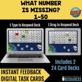Kindergarten Math BOOM Cards™ - Missing Numbers 1-50