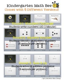Number Talks Math Bee (Kinder Edition)