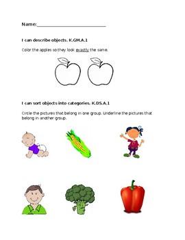 Kindergarten Math Benchmark Assessment-Quarter 1