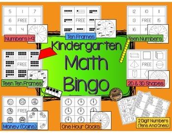 Kindergarten Math Bingo Centers/Games