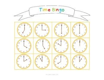 Kindergarten Math Bingo Math Centers 2 (Time and Money!)