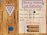 Kindergarten Math Bowling Addition and Subtraction