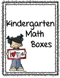 Kindergarten Math Boxes
