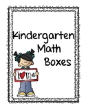 Kindergarten Math Boxes Free Preview