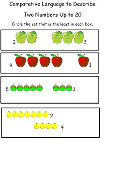 Kindergarten Math Bundle Apple Theme for Centers, DIY's, Daily 5, Small Group